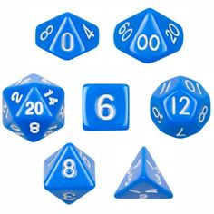 7 Die Polyhedral Dice Set - Solid Blue with Velvet Pouch ... https://www.amazon.com/dp/B00BR3USA6/ref=cm_sw_r_pi_dp_EpDCxbMQ6MG1H