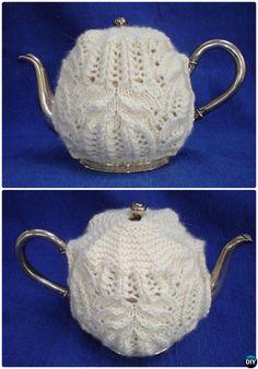 #Knit Aunt Jane Tea Cozy Free Pattern-20 Crochet Knit Tea Cozy Free Patterns #Kitchen