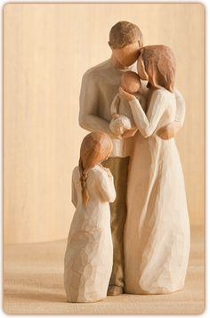 Family Groupings of Willow Tree hand-sculpted figures by Susan Lordi Willow Tree Figures, Willow Tree Angels, Willow Tree Family, Big Sister Gifts, Dad Baby, Tree Sculpture, Second Child, My Collection, Kids Girls