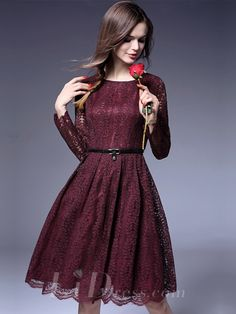 Illusion Long Sleeves Short Lace Dress