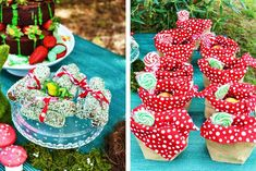Your Unique Party styled this super cute Enchanted Forest Themed Party, with macaron toadstools, fresh strawberries, bunnies and birds nest....