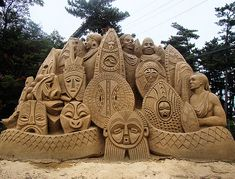 Africa! The sand sculptures in Tottori