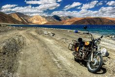 Heading for the Blue - Pangong Lake by Rohit Chawla Motorcycle Camping, Camping Gear, Motorcycle Touring, Motorcycle Adventure, Bmw Motorcycles, Landscape, Photography, Leh Ladakh, Freedom