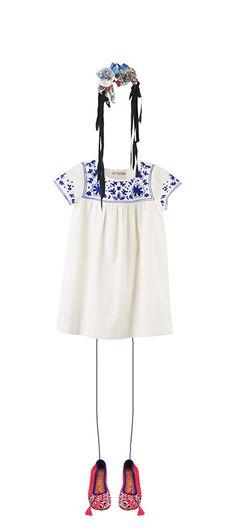 Bonpoint Summer 2015: Arabesque dress Milk White Meher Kakalia for Bonpoint Geranium