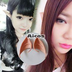 Halloween Woochie Cosplay Props Teeth Fairy Pixie Elf Latex Soft Prosthetic Ears #Unbranded