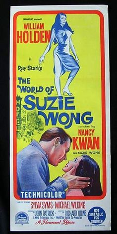 WORLD OF SUZIE WONG Daybill Movie Poster William Holden Nancy Kwan