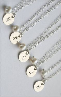 initial necklaces make a lovely gift ideas for bridesmaids