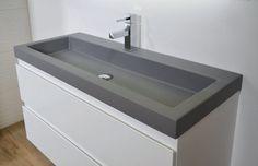Ink Momento wastafel quartz grijs 100x45x9cm geen kraangat 3421130