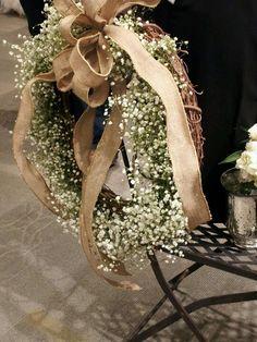 Babies breath wreath