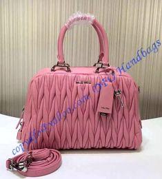 86efc7fc8b Miu Miu Matelasse Bowler Pink sale at USD404.00 - Free Worldwide shipping.  Get. LuxTime DFO Handbags