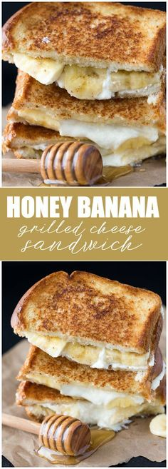 Honey Banana Grilled Cheese Sandwich - Elevate your breakfast with a sweet sandwich your family will love! #dessertfoodrecipes