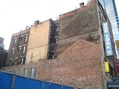 Faded outlines of phantom Manhattanbuildings