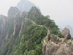 Hiking Huangshan Mountain