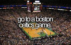 bucket list: go to a boston celtics game. DONE!