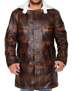 Trendy The Dark Knight Rises Tom Hardy Bane Coat Mens Leather Coats, Leather Collar, Real Leather, Leather Jacket, Bane Jacket, Bane Costume, Tom Hardy Bane, The Dark Knight Rises, Shearling Jacket