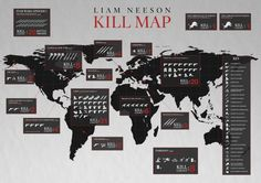 Kill Map Shows You Where to Avoid Liam Neeson [CHART]