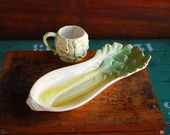 Vegetable Platter and Cup, Vintage Ceramic Vegetable Ware - there's a place for these in my kitchen dresser...