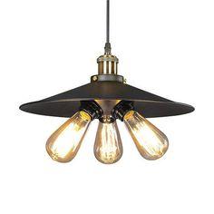 LNC Industrial Edison Vintage Style Matte Black Industrial Metal Hanging Pendant Light Shade