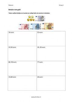 Dit werkblad en nog veel meer in de categorie geld kun je downloaden op de…