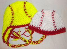 Crochet Baseball & Softball Hats by Pjsxoxo on Etsy, $12.00