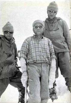 First Ascent Gasherbrum II 1956. Joseph Larch, Fritz Moravec  Hans Willenport