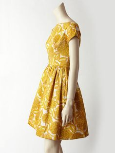 Mustard dress #6 -- where is this dress from?!  Of course the one I like the most I have no idea where I could buy it...