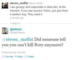 How to ruin a Moffat's day