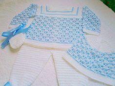 conjunto tejido para bebe en crochet por AMbabydesing en Etsy