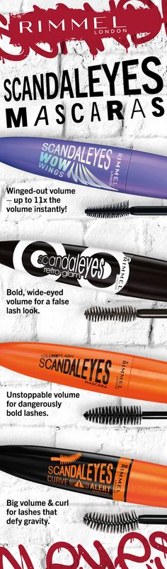e9fa411b1eb For lashes that are sure to start a scandal: Shop Rimmel Scandaleyes  Mascaras!