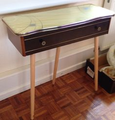 1960s tripod table, sold October 2014.