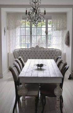 ❥ white tufted antique sofa