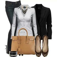 White/Black Blazer. . Love!