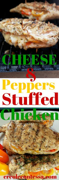 Grilled Chicken Stuffed with Cheese and Peppers -Creole Contessa (2)