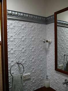 Pressed tin (Painted white) walls