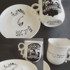 Beautiful alice mug & wonderland mug
