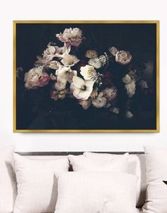 Dark florals are definitely having their moment, and help create a moody (yet still elegant) vibe in your home.