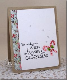 Christmas card by Maureen Plut using Merry & Bright  by Verve Stamps.  #vervestamps