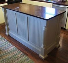 Beadboard Island With Columns By Ursula Wainscoting Hallway Dining Room Panels