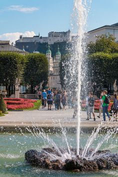 Fountain in Salzburg. Salzburg was easily my favourite city in Austria, and from the moment we arrived I fell madly, deeply in love with it. #Salzburg #Austria #Travel