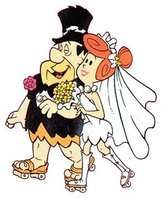 Fred and Wilma's wedding on skates