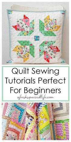 Free Quilt Tutorials For Beginners Want to learn to quilt? I have put together a inspirational list of DIY quilting tutorials designed Quilting For Beginners, Sewing Projects For Beginners, Quilting Tips, Quilting Tutorials, Machine Quilting, Quilting Projects, Sewing Tutorials, Sewing Hacks, Sewing Tips