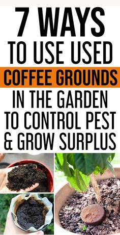 Gardening Herbs Using coffee grounds will make your garden happier as it enriches the soil with essential elements like potassium, nitrogen and other minerals.