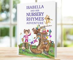 A Wonderful Personalised Keepsake Book of Nursery Rhymes & Poems.  The perfect gift for a Newborn Baby, Baby Shower, Christenings, Baptism, Naming Ceremonies, Christmas and Birthdays.  Each special book takes the child on a wonderful adventure through traditional timeless nursery rhymes and 1st Birthday Gifts, Personalized Birthday Gifts, Personalized Books, Nursery Rhymes Poems, Baby Poems, Baby Memories, Baby Keepsake, Cata, Memory Books