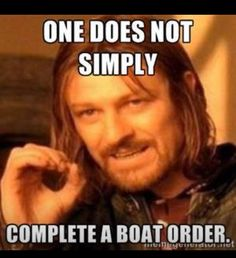 Damn boat orders! Quit telling me to hurry up bc my boat is leaving soon. I'm doing my best!