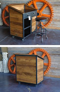 Hilton Hostess Stand by Vintage Industrial Furniture in Phoenix, AZ