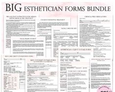 Editable Pink Esthetician treatment forms, customizable business planner for beauticians, skin care advice – microblading Microblading Eyebrows After Care, Microblading Aftercare, Salon Business, Business Planner, Etsy Business, Facial Esthetician, Esthetician Room, Medical Esthetician, Eyelash Technician