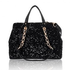 $11.59 Elegant Stylish Casual Women's Tote Bag With Sequins and Metal Chain Design
