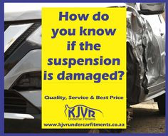 Usually the car will tel you when it's time for suspension repairs. a Rough ride is an obvious sign, when it's a bumpy ride and the car rides roughly. Did You Know, How To Apply, Sign, Car, Automobile, Signs, Cars