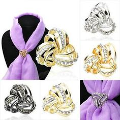1Pcs-Hot-Gold-Silver-Hollow-Crystal-Scarf-Ring-Silk-Scarf-Buckle-Scarves-Jewelry