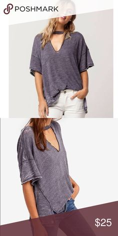 61af7d4d7582 Free People Jordan Burnout Tee Purple XS Good condition free People Jordan  tee on darker purple